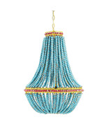 Currey & Company Look Turquoise Blue Bead Hedy Anthropologie  Modern Cha... - $409.86