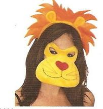 Plush Lion Eye Mask & Mane Ears Headband masquerade zoo party costume di... - $9.74