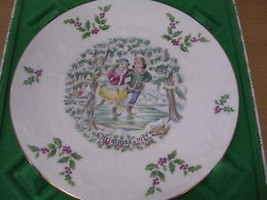 Royal Doulton Christmas Plate 1977 Skaters 1st Series includes Box - $36.15