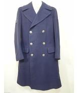 USAF Air Force Mens 35L Blue Wool Overcoat Uniform Airman Pembroke Vietn... - $132.30