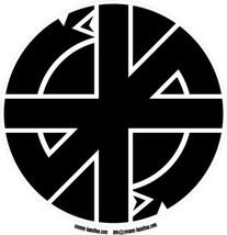 Crass logo circular black vinyl sticker decal 12cm Conflict punk - $3.44