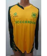 Australia Socceroos Mens L Football Soccer Green Yellow Long-Sleeve Jersey - $57.33