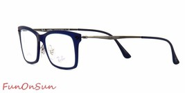 Ray Ban Eyeglasses RB7039 5451 Matte Blue LightRay Rectangle 53mm Authentic - $77.59