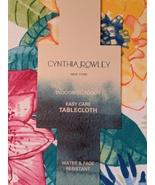 """Cynthia Rowley Tortuga Multi-Color Floral Indoor/Outdoor Tablecloth 70"""" ... - $34.00"""