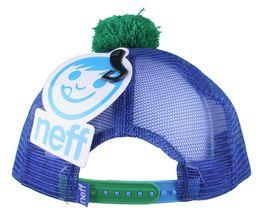 Neff Men's Blue Monster Snapback Baseball Pom Hat Cap NWT image 4