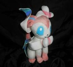 """8"""" Pokemon Xy Sylyeon Nymphia Fairy Eevee White & Pink Stuffed Animal Plush Toy - $20.30"""