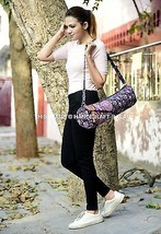 Yoga Zym Mat Carrying Ethnic Cross Body Hippie Indian Mandala Cotton Pil... - $315,20 MXN