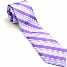 NEW NORDSTROM 59L Purple Striped Silk Mens Neck... - $49.49