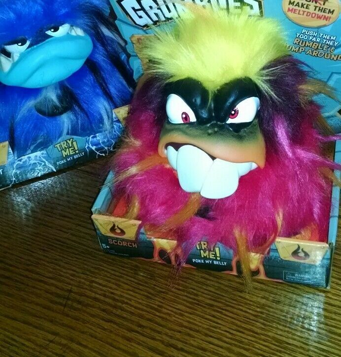 Set Of 4 New GRUMBLIES Hydro Bolt Scorch Tremor Interactive Animals With Sound
