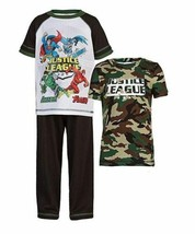 NEW Komar Kids Boy's Justice League 3 Piece Set, Camo/White