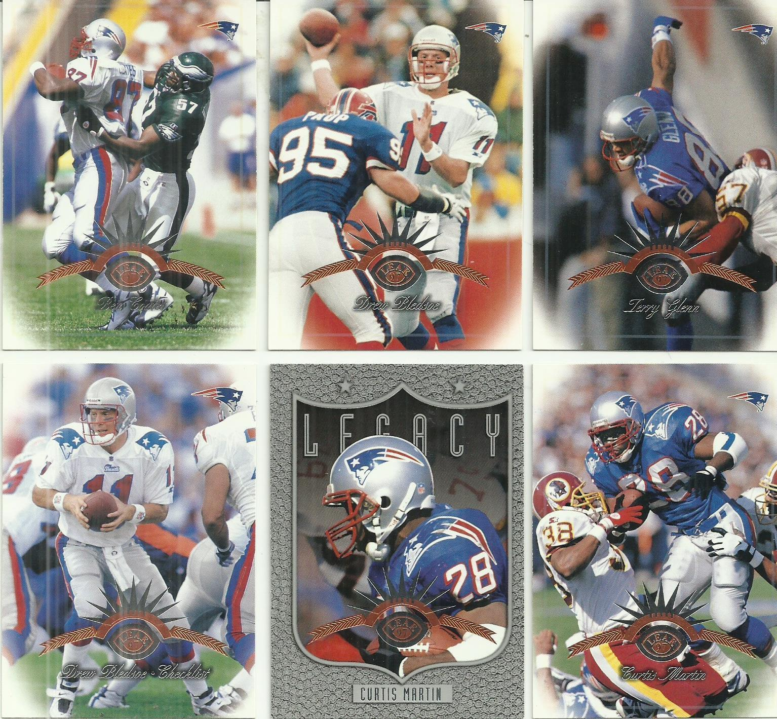 (6) 1997 Leaf (New England Patriots Complete Team Set) SEE SCANS!