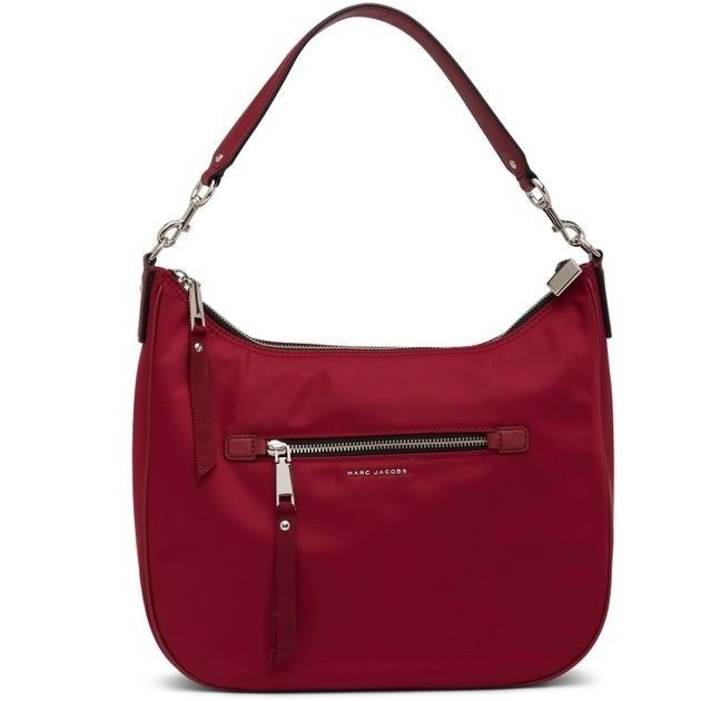 Marc Jacobs Trooper Nylon Hobo Bag Deep Maroon