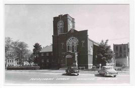 Presbyterian Church Cars Cherokee Iowa 1950s RPPC postcard - $9.50