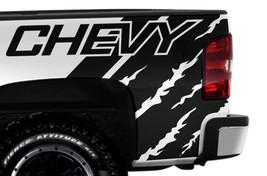 Vinyl Decal Wrap Kit CHEVY QUARTER for 2008-2013 Chevrolet Silverado MAT... - $56.06