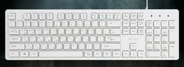iRiver Korean English Keyboard USB Wired Membrane Cover Skin Protector (White) image 2