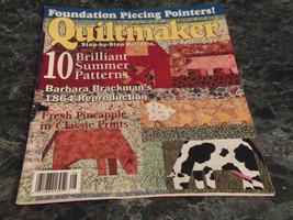 Quiltmaker Step by Step Magazine July August 2001 No 80 A Tisket A Tasket Pt 3 - $2.99