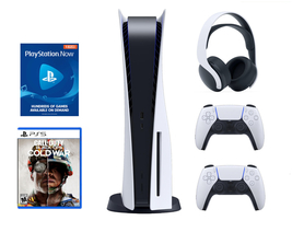 Newest Sony PS5 PlayStation 5 Console DISC COD, Pulse 3D Bundle - Ready To Ship image 1