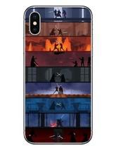 Star Wars Lightsaber BattlesiPhone X 10 Phone Case For iPhone 5 5S SE 6 ... - $14.30