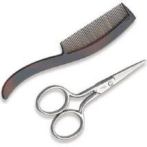 Ultra Mustache Scissors & Comb 4102U - $9.40