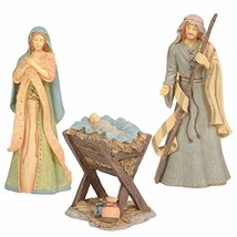 Enesco Foundations Holy Family Nativity Figurine Set, 10, 9.25 and 4.25 Inch, Mu - $82.59