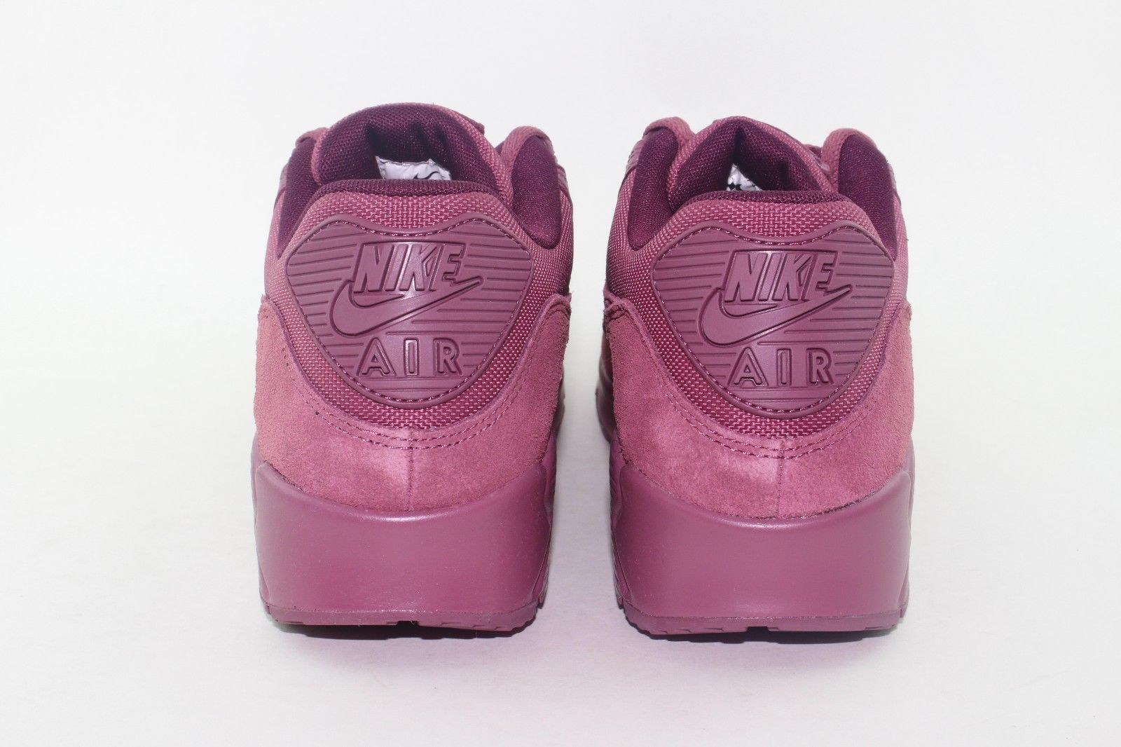 low priced d7bc2 152a6 ... NIKE AIR MAX 90 PREMIUM MEN SIZE 7.5 VINTAGE WINE BORDEAUX NEW SUEDE  LEATHER ...
