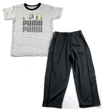 PUMA Little Boy's Pant Set 2-Piece Tee T-Shirt Shirt with Track Pants Brand NEW
