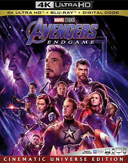 Marvel Avengers Endgame (4K Ultra HD + Blu-ray + Digital, 2019)