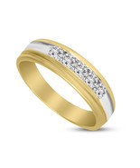10 K Yellow Gold 1/2 CT Lab Created Designer Channel Diamond Ring for wo... - $285.00