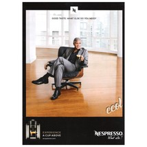 PRINT AD With George Clooney For Nespresso Coffee - $2.99