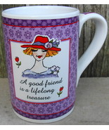 Linda Grayson for Santa Barbara Friend Ceramic Mug Cup - $18.00