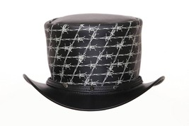 Top Hat Razor Wire Leather Top hat Spikes,Steampunk Top Hat,Gothic Top hat - £60.00 GBP