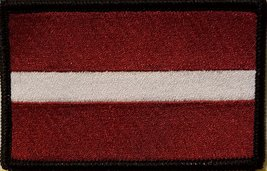 "[Single Count] Custom and Unique (3 1/2 "" x 2 1/4"" Inches) LATVIA National FL... - $6.92"