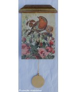 PAINTED CLOCK, BIRD, Wall clock, Hand made clock, Decoupage 3D, Wall dec... - $50.00