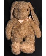 "Large 1991 Ty Classic Curly Bunny 18"" Stuffed Animal Rabbit Plush W/ Pink Bow - $18.95"