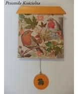 WALL CLOCK, PAINTED CLOCK, BIRDS, Hand made clock, Decoupage 3D, Wall de... - $50.00