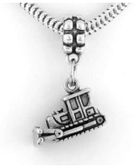 STERLING SILVER DANGLING BULLDOZER EUROPEAN BEAD - $17.19