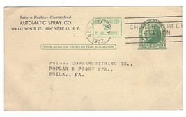 UX39 Advertising Postal Card Automatic Spray Preprinted NY no day time d... - $4.99