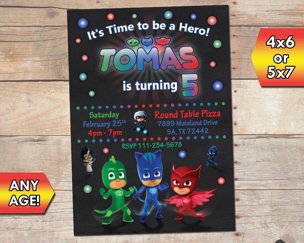 PJ Masks Birthday Party Invitation And 50 Similar Items Pj Mask 01