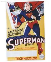 Superman Vintage 8X10 Color Cartoon Memorabilia Photo  - $4.99