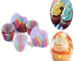 2000 Pack - Colorful Rainbow Paper Cupcake Muffin Boxes