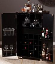 Black Bar Cabinet Wine Rack Home Furniture 20 Bottles Storage - $518.88