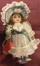 Porcelian Dollshow Stopper. Little Woman  Beige & Green - $14.90