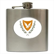 Cyprus Coat Of Arms Hip Flask (Classic Stainless Steel) - Heraldic Tabard - $14.35