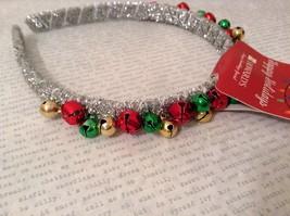 Jingle bell fashion head wear band choice of color way silver red green headband - $39.99