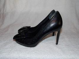 Cole Haan Violet Air Ot Bow Black Peep Toe Pump Heels 5.5B For Women Used - $79.19