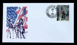 US Stamp Sc# B2 FDC AMERICAN HEROES SEMI-POSTAL 2002 Artmaster Cachet  - $10.99