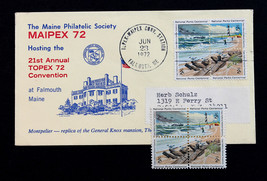 US Stamp Sc# 1448-1451 Early Use on Maine MAIPEX 72 TOPEX Convention  - $14.99