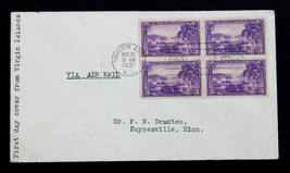 US Stamp Sc# 802 FDC  3c Virgin Islands Block of 4 1937 - $5.99