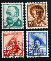 Stamp Switzerland -Sc# B106-B109 Semi-Postal - $5.99