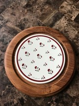 Goodwood Teak 9 Inch Floral Ceramic White Red W... - $16.98
